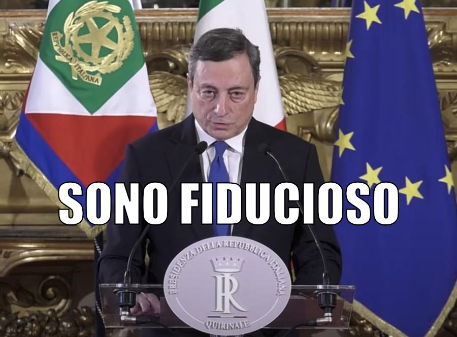 Draghi fiducioso